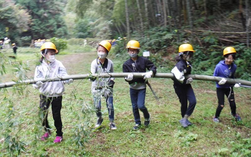 富山市立五福小学校<br /> 「竹林整備体験」
